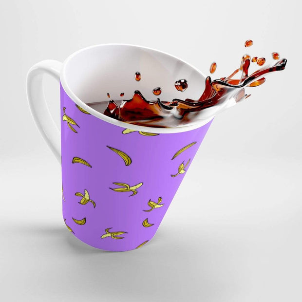"""Banana"" Purple Latte mug - Awesome, custom designed T-shirts & Art  
