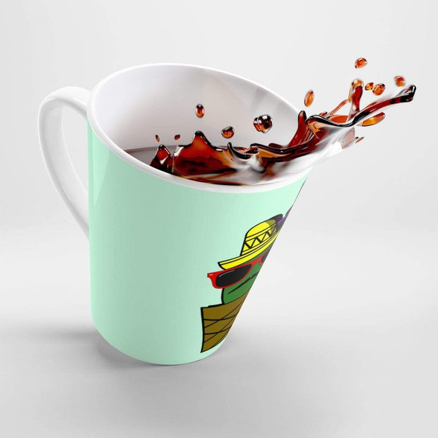 """Cactus #6"" Latte mug - Designs by Royi .B."