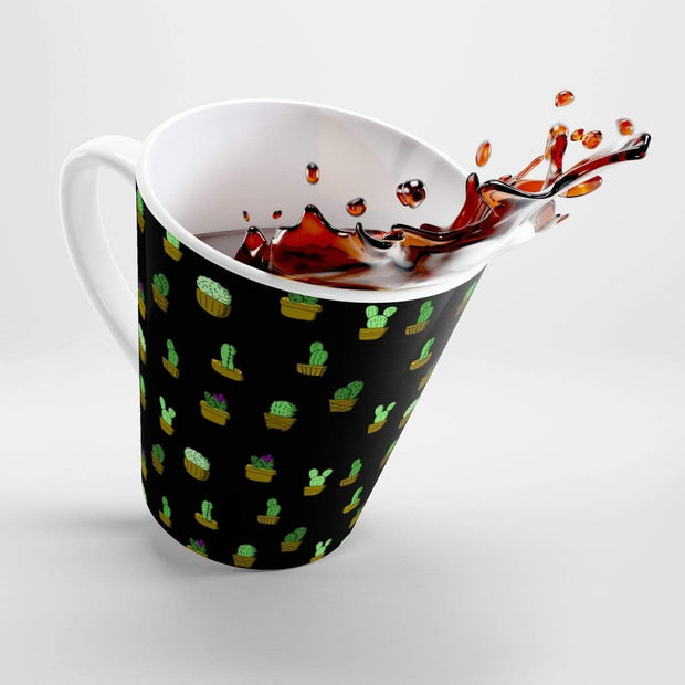 """Cactus"" Black Latte mug - Awesome, custom designed T-shirts & Art  