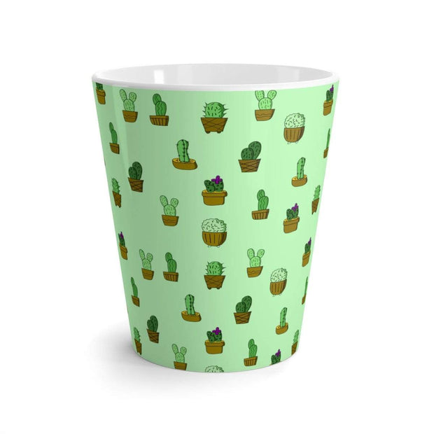 """Cactus"" Green Latte mug - Awesome, custom designed T-shirts & Art  