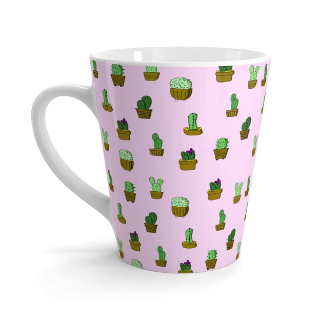 """Cactus"" Pink Latte mug - Designs by Royi .B."