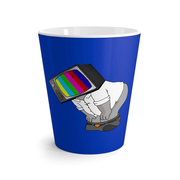 """Fart on TV"" Blue Latte mug - Awesome, custom designed T-shirts & Art  