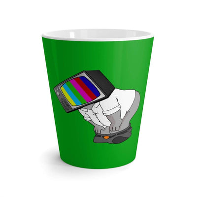 """Fart on TV"" Green Latte mug - Awesome, custom designed T-shirts & Art  