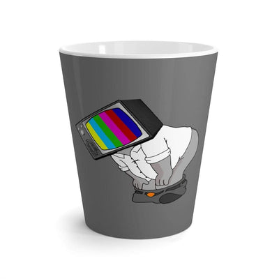 """Fart on TV"" Grey Latte mug - Awesome, custom designed T-shirts & Art  