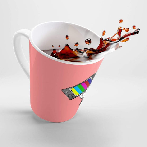 """Fart on TV"" Peach Latte mug - Awesome, custom designed T-shirts & Art  
