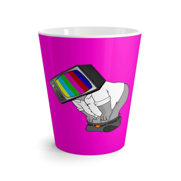 """Fart on TV"" Pink Latte mug - Awesome, custom designed T-shirts & Art  
