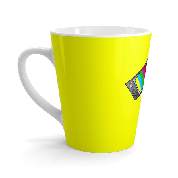 """Fart on TV"" Yellow Latte mug - Awesome, custom designed T-shirts & Art  