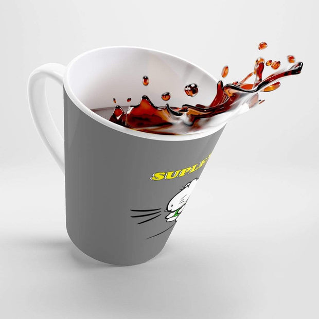 """Suplex Kitty"" Grey Latte mug - Awesome, custom designed T-shirts & Art  