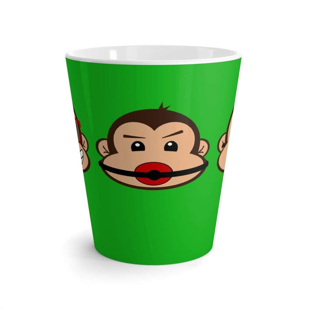 """The 3 Monkeys"" Green Latte mug - Awesome, custom designed T-shirts & Art  