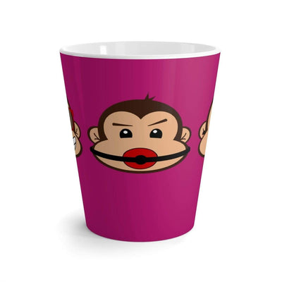"""The 3 Monkeys"" Purple Latte mug - Designs by Royi .B."