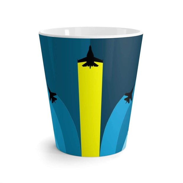 """The Air Show"" Latte mug - Awesome, custom designed T-shirts & Art  