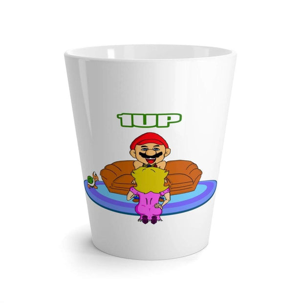 """The Happy Ending"" White Latte mug - Awesome, custom designed T-shirts & Art  
