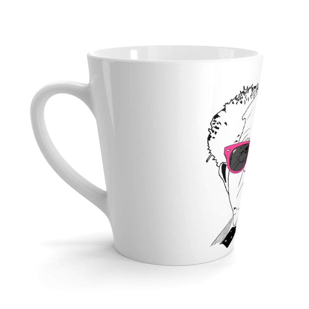 """The Optimist"" Latte mug - Awesome, custom designed T-shirts & Art  
