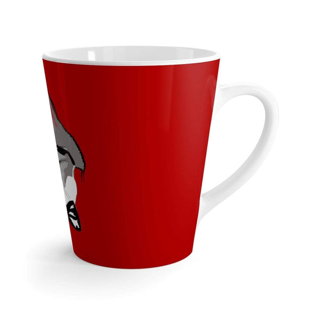 """The Stylish Cat"" Red Latte mug - Awesome, custom designed T-shirts & Art  