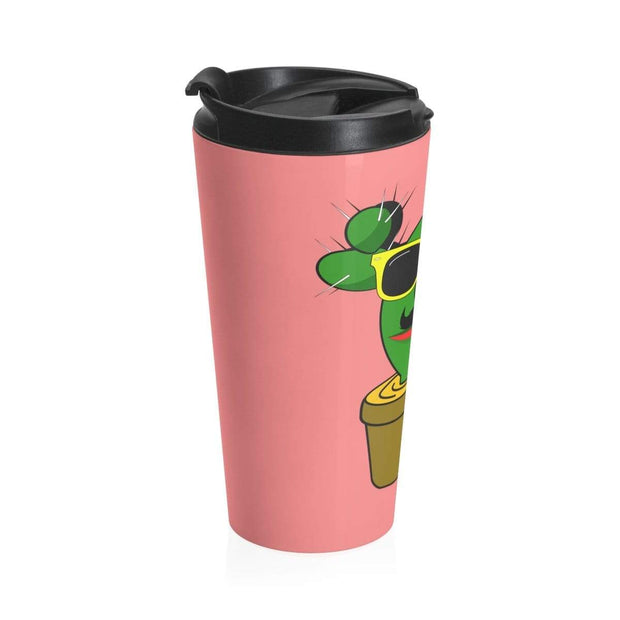 """Cactus #1"" Stainless Steel Travel Mug - Awesome, custom designed T-shirts & Art  
