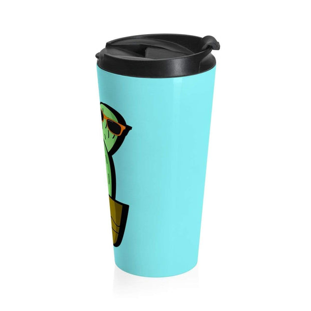 """Cactus #2"" Stainless Steel Travel Mug - Awesome, custom designed T-shirts & Art  