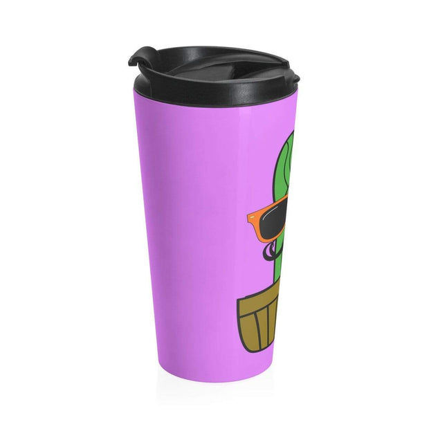 """Cactus #4"" Stainless Steel Travel Mug - Awesome, custom designed T-shirts & Art  