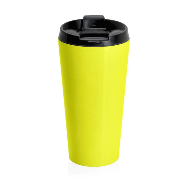 """Fart on TV"" Yellow Stainless Steel Travel Mug - Awesome, custom designed T-shirts & Art  