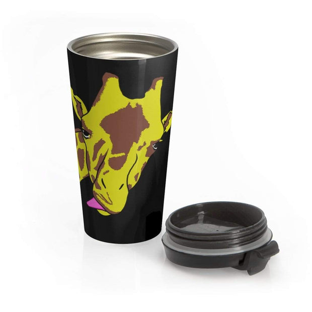 """Hello!"" Stainless Steel Travel Mug - Designs by Royi .B."