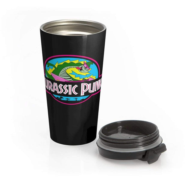 """Jurassic Punk"" Stainless Steel Travel Mug - Awesome, custom designed T-shirts & Art  