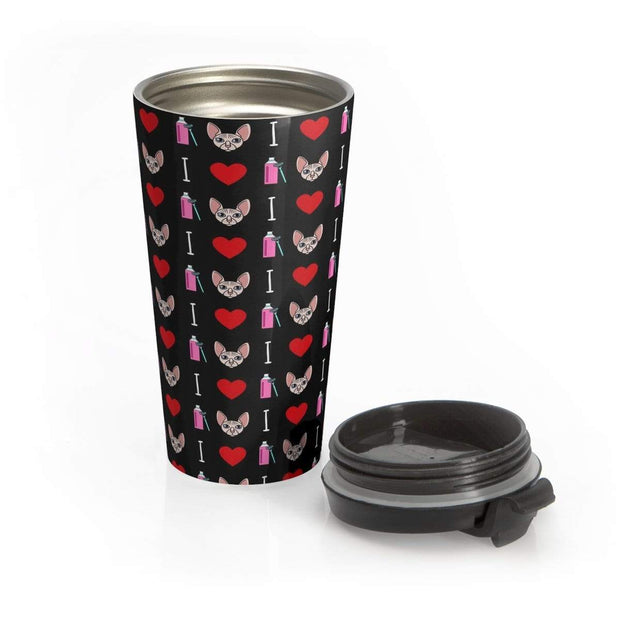 """Shave Up"" Stainless Steel Travel Mug - Awesome, custom designed T-shirts & Art  