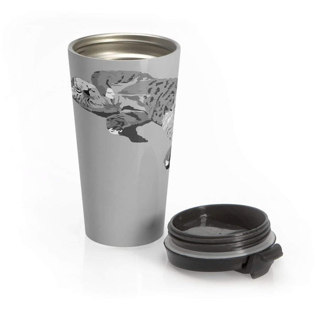 """Sleeping Cutie"" Stainless Steel Travel Mug - Awesome, custom designed T-shirts & Art  