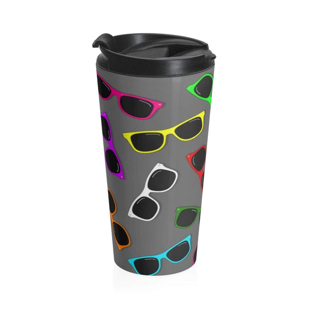 """Sunglasses in Color"" Stainless Steel Travel Mug - Awesome, custom designed T-shirts & Art  