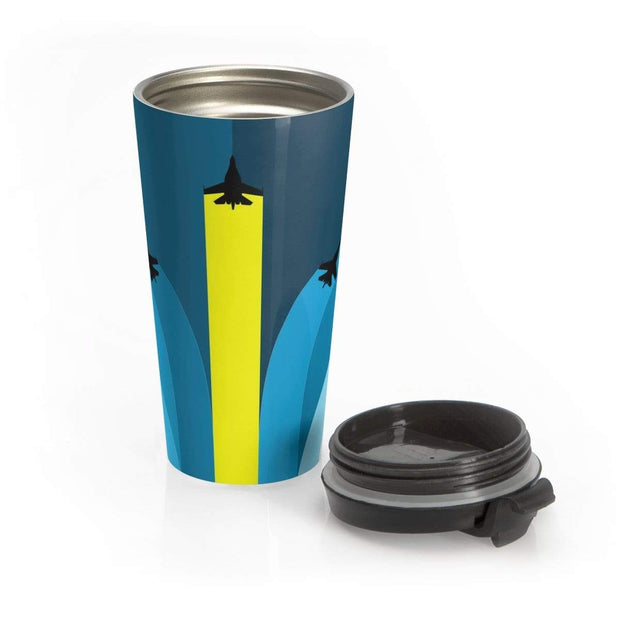 """The Air Show"" Stainless Steel Travel Mug - Awesome, custom designed T-shirts & Art  