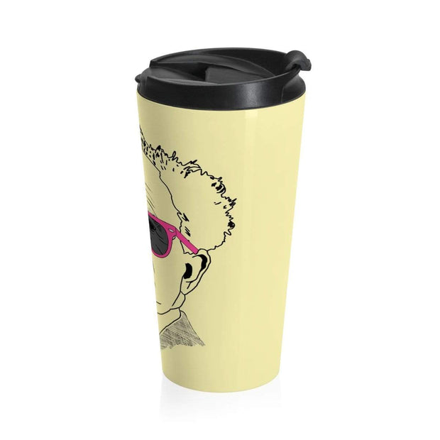 """The Optimist"" Stainless Steel Travel Mug - Awesome, custom designed T-shirts & Art  