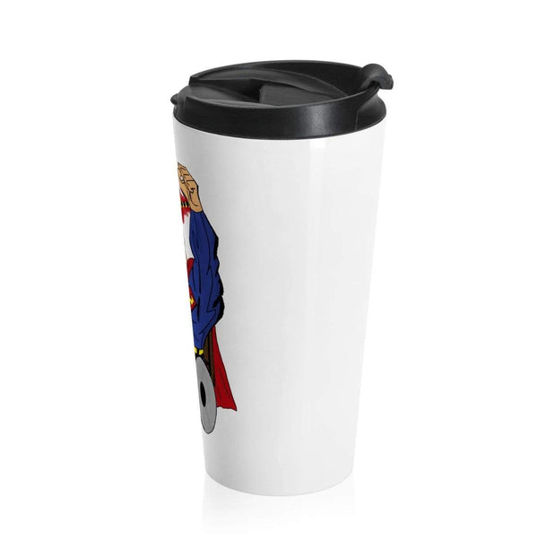 """Up Up"" Stainless Steel Travel Mug - Awesome, custom designed T-shirts & Art  