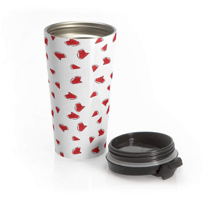 """Watermelon"" Stainless Steel Travel Mug - Awesome, custom designed T-shirts & Art  