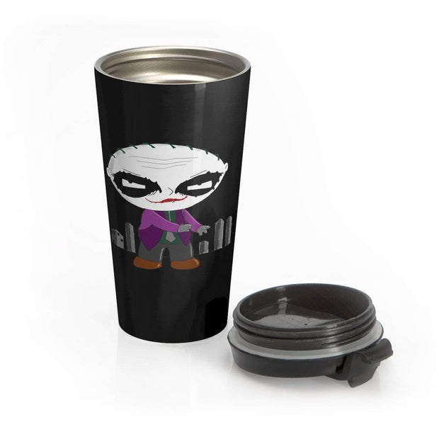 """Why So Serious?"" Stainless Steel Travel Mug - Designs by Royi .B."