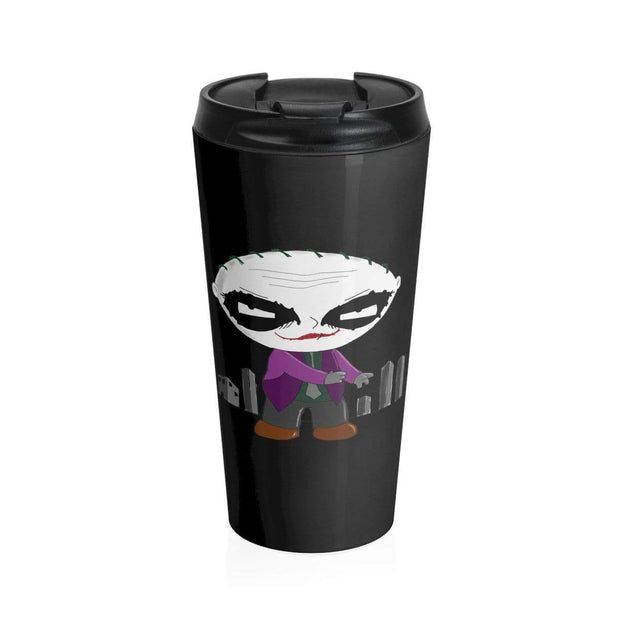 """Why So Serious?"" Stainless Steel Travel Mug - Awesome, custom designed T-shirts & Art  