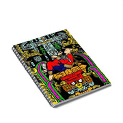 """Ancient Astronaut"" Spiral Notebook - Ruled Line - Awesome, custom designed T-shirts & Art  