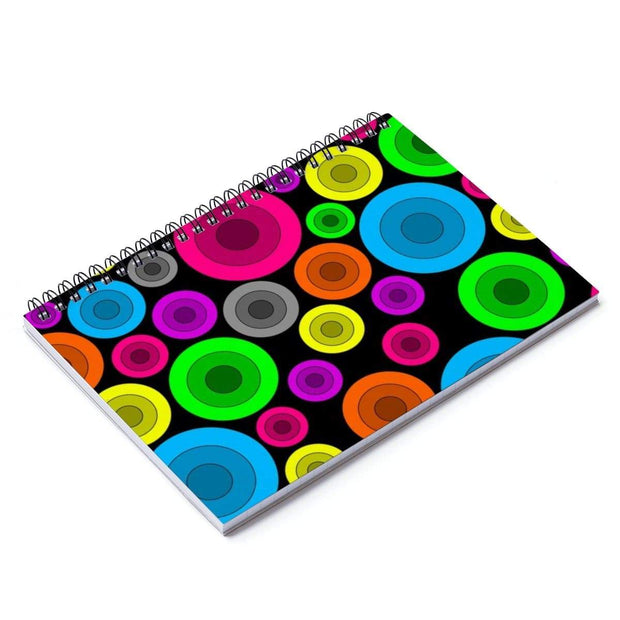 """Circles"" Spiral Notebook - Ruled Line - Awesome, custom designed T-shirts & Art  
