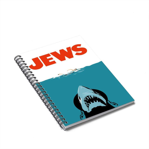 """Jews"" Spiral Notebook - Ruled Line - Designs by Royi .B."