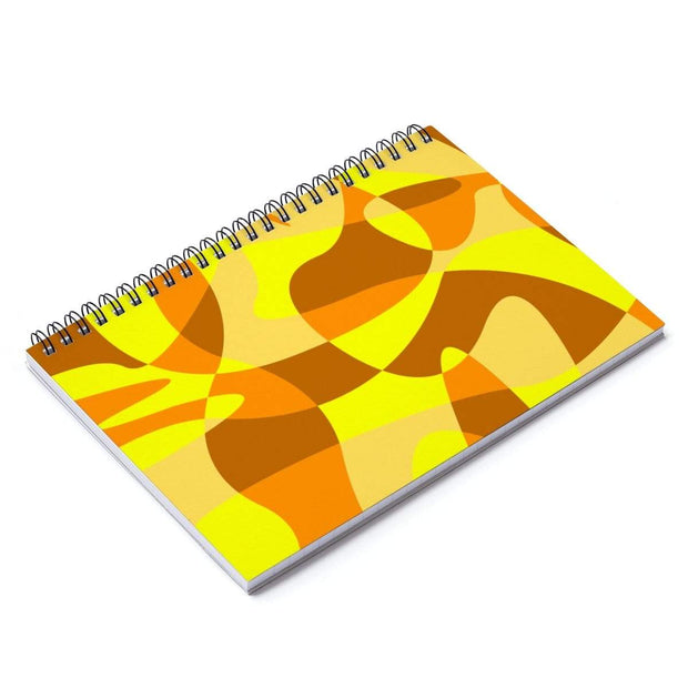 """Sandy Beach"" Spiral Notebook - Ruled Line - Designs by Royi .B."