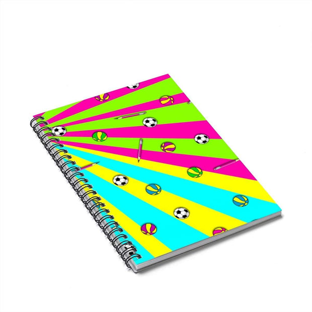 """School's Over"" Spiral Notebook - Ruled Line - Awesome, custom designed T-shirts & Art  