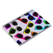 """Sunglasses in Color - Special Edition"" Spiral Notebook - Ruled Line - Designs by Royi .B."