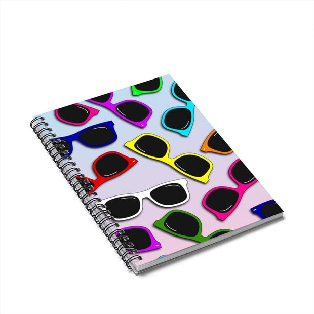 """Sunglasses in Color - Special Edition"" Spiral Notebook - Ruled Line - Awesome, custom designed T-shirts & Art  