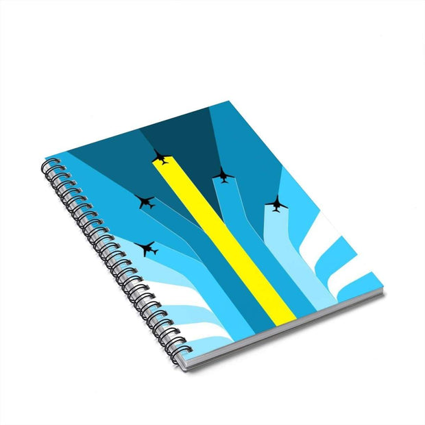 """The Air Show"" Spiral Notebook - Ruled Line - Awesome, custom designed T-shirts & Art  
