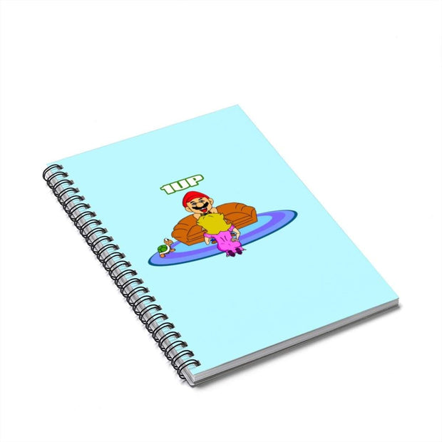 """The Happy Ending"" Blue Spiral Notebook - Ruled Line - Awesome, custom designed T-shirts & Art  