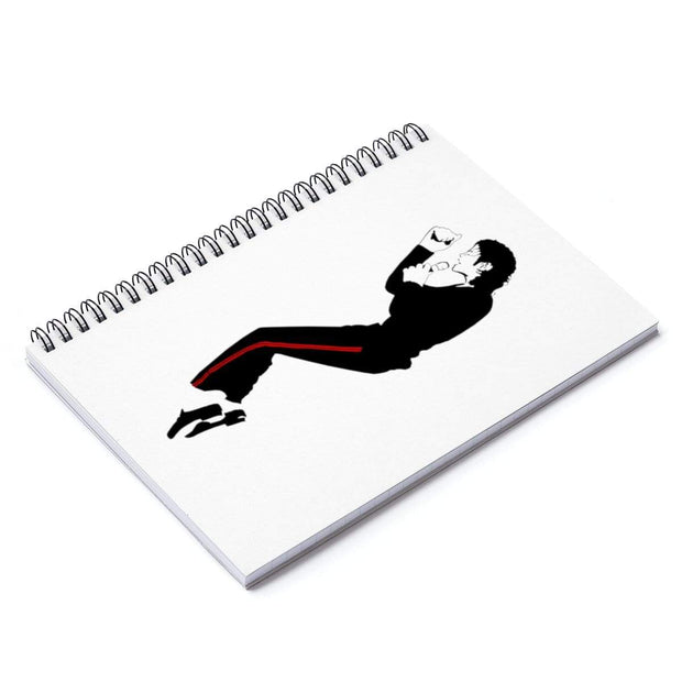 """The King of Pop"" Spiral Notebook - Ruled Line - Awesome, custom designed T-shirts & Art  