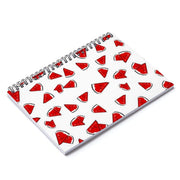 """Watermelon"" Spiral Notebook - Ruled Line - Designs by Royi .B."