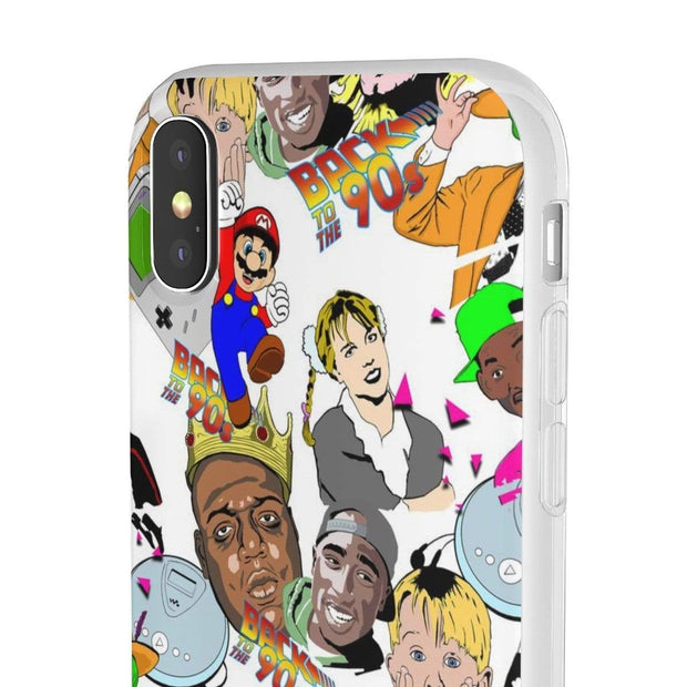 """Back to the 90s"" Flexi Phone Case - Awesome, custom designed T-shirts & Art  