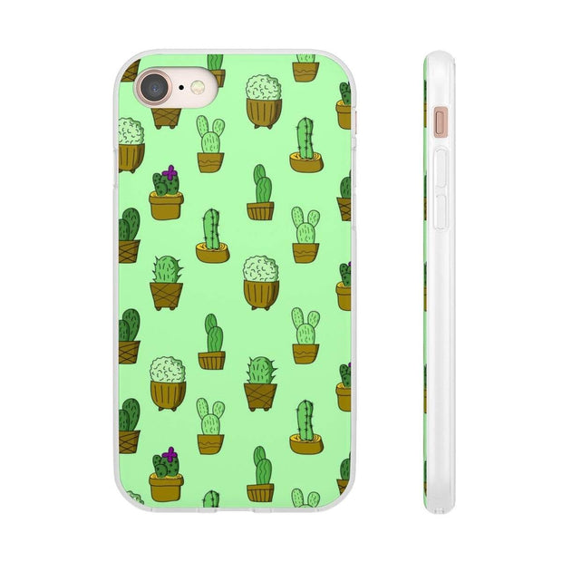 """Cactus - Green"" Flexi Phone Case - Awesome, custom designed T-shirts & Art  