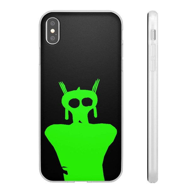 """Green Alien Cave Drawing"" Flexi Phone Case - Designs by Royi .B."