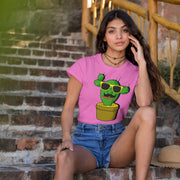 """Cactus #1"" Custom T-Shirt for Women - Awesome, custom designed T-shirts & Art  