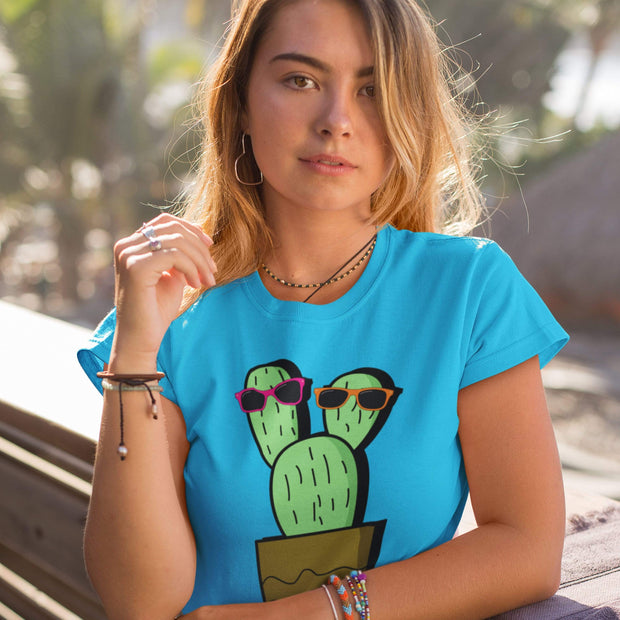 """Cactus #2"" Custom T-Shirt for Women - Awesome, custom designed T-shirts & Art  