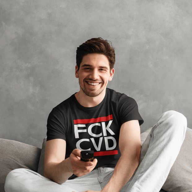 """FCK CVD"" T-shirt T-shirt for Men - Awesome, custom designed T-shirts & Art  